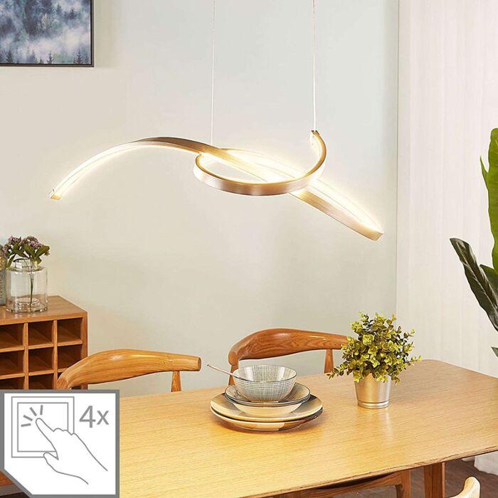 Moderne-hanglamp-aluminium-incl.-LED-en-dimmer---Dominykas