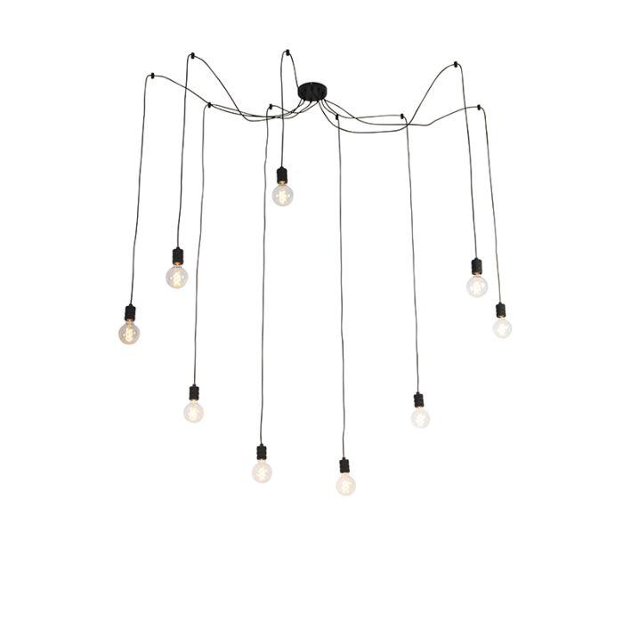 Design-hanglamp-zwart-9-lichts---Cavalux