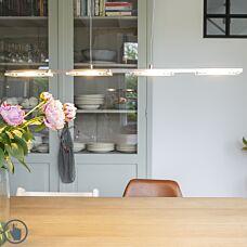 -Hanglamp staal met kunststof incl. LED met dimmer - Vitro-aanbieding