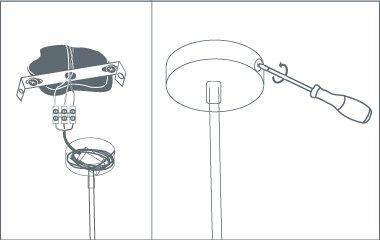 hanglamp ophangen - elektriciteit aansluiten