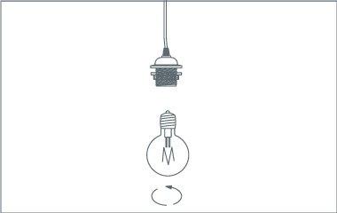 hanglamp ophangen - draai de lamp vast