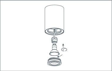 Stap 5. Doe het lampje in de opbouwspot