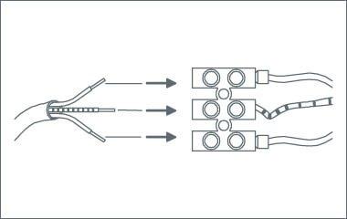 Montage instructies - wandlamp - bevestig de electriciteitsdraden